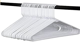 White Plastic Clothes Hangers | The Best Choice Everyday Standard Suit Clothe Hanger Target Set | Bulk Beauty Closet Room Pack | Adult Clothing Drying Rack Dress Form Shirt Coat Hangers with J Hooks