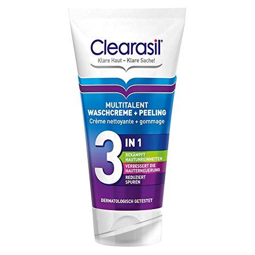 Clearasil Multi Talent Lavado Crema + exfoliante, 150 ml