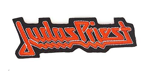Gemelolandia | Toppe ricamata Termoadesiva Judas Priest 11,5 x 4 cm | Patch Stickers Adesivi per Abiti, Giacche, Pantaloni, Camicie e Oggetti in Tessuto