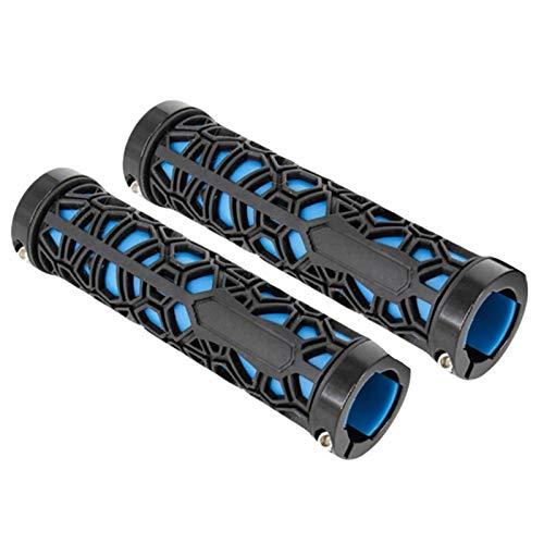 LUOSI Anti-Rutsch-Qualitäts-Fahrrad-Handgriff Gummi Weich End Handschuh-Fahrrad-Roller-Fahrrad-Gebirgs Zubehör Gut (Color : Navy Blue, Size : One Size)