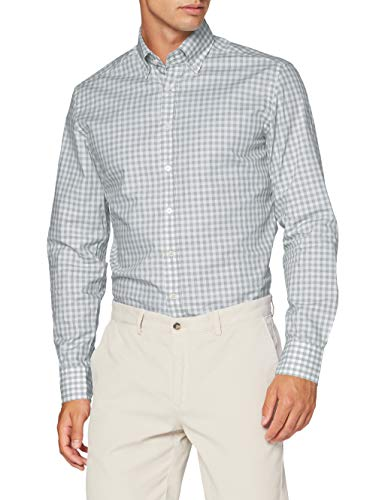 Hackett London Gingham Chk Camisa, 7 Beolive/Blanco, XXX-Large para Hombre