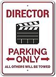 2158 Signchat - Cartel de director de aparcamiento para director de director de metal, para decoración de pared, 20 x 30 cm
