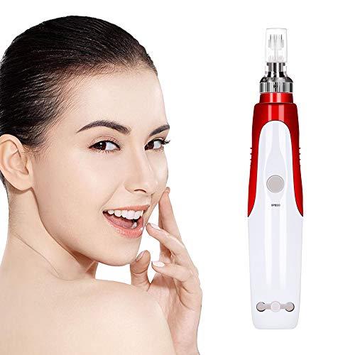 Aozzy Elektrische Derma Stift Microneedling Pen Haut Anti Aging Akne Scar Therapie Maschine Gesicht Hautpflege 0.25mm-2mm Einstellbar mit 10 Stücks 12 Nadel Patrone (Stift + Patrone)