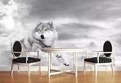 Fototapete 3D Tapeten Wandbild Husky Persönlichkeit Wolf Foto Tapete Wandtapete Vliestapete Wandbilder XXL Wanddeko