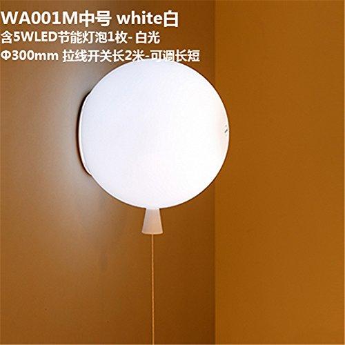 JJZHG wandlamp wandlamp waterdichte wandverlichting kleur ballon licht gast restaurant slaapkamer nachtkastje lamp kinderen huis muur (300mm) bevat: wandlamp, stoere wandlampen