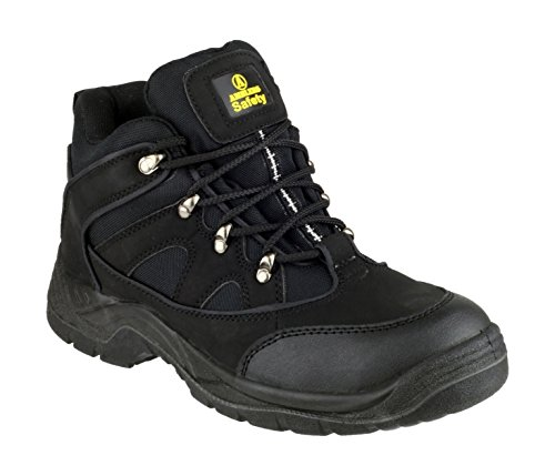 Amblers Steel Lace-Up Textile Lined Mens Boots - Black - Size 10