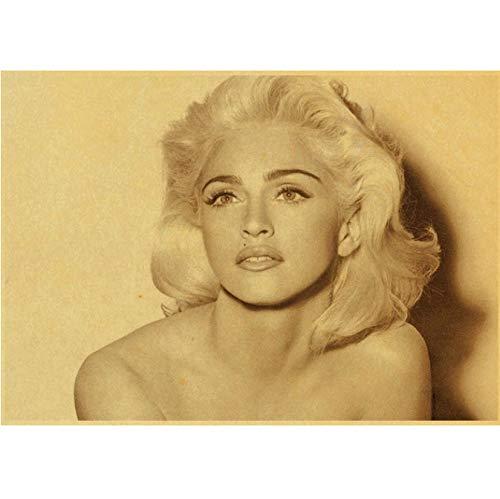 Preisvergleich Produktbild Xin Yao Store Sexy Madonna Retro Papier Poster Home Furnishing Wandaufkleber Kreative Leinwand Malerei Poster Rahmenlose Malerei Home Decoration 40X50Cm (Y: 2189)