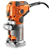 Ridgid 5.5 Amp Corded Compact Power Trim Router With Micro Adjust Dial R24012+ Sander