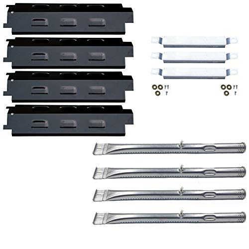 Direct Store Parts Kit DG259 Replacement for Charbroil Grill 463436213,463436215; Thermos 466360113 Repair Kit (SS Burner + SS Carry-Over Tubes + Porcelain Steel Heat Plate)