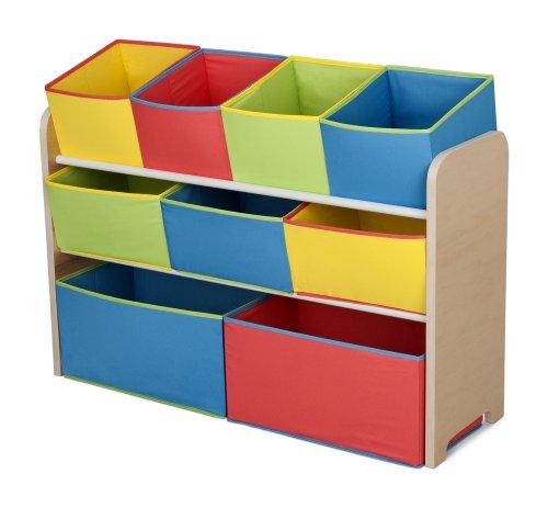 Delta Children Deluxe Multi-Bin Toy Organizer with Storage Bins , Natural/Primary