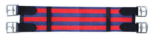 AMKA Sattelgurt Baumwolle Kurzgurt, dunkelblau/rot