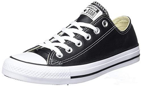 Converse Unisex - Erwachsene Chuck Taylor Core Lea Ox Sneaker, Schwarz (Black), 40 EU