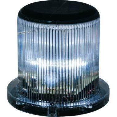 Solar Warning & Weatherproof Dock Light - White LEDs - Flashing 360 Degree Lighting - 2nd Generation