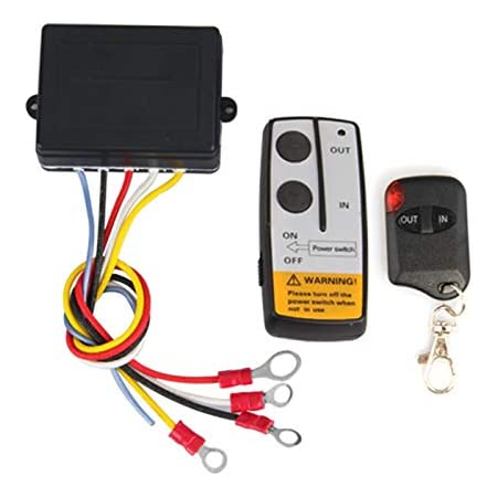 balikha 12V Wireless Winch Remote Control Kit for Truck ATV SUV with Detailed