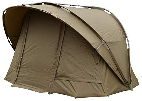 Fox R-Series XL khaki 1 man inc. inner dome 235x295x165cm - Zelt mit Innenzelt, Angelzelt zum Nachtangeln, Karpfenzelt für Angler