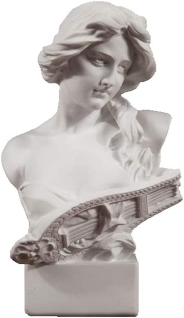 Ancient Greek Bust Sculpture of Teipsikeri, Resin Imitation Plas