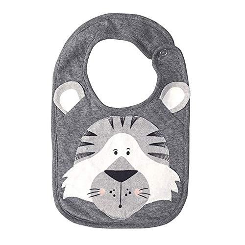 Baberos para bebé recién nacido, diseño de dibujos animados, impermeable, toalla de saliva, bufanda de algodón, para bebés de 0 a 3 años (color: cisne, tamaño: 30 x 18 cm)