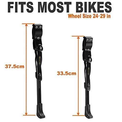 MEXITAL Fahrradständer für 24-29inch, Seitenständer,Fahrrad Ständer,Universal Fahrradständer mit Anti-Rutsch Gummifuß Aluminiunlegierung für Mountainbike,Rennrad,Fahrräder,Klapprad