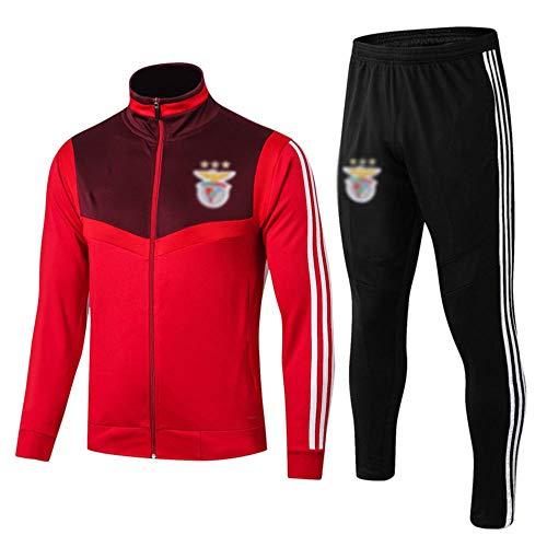 MVNTOO Club de fútbol Europeo, Traje de Chaqueta de fútbol para Hombre, Camiseta de Entrenamiento, Hecho por fanáticosff- - Fútbol988-rojo_Metro