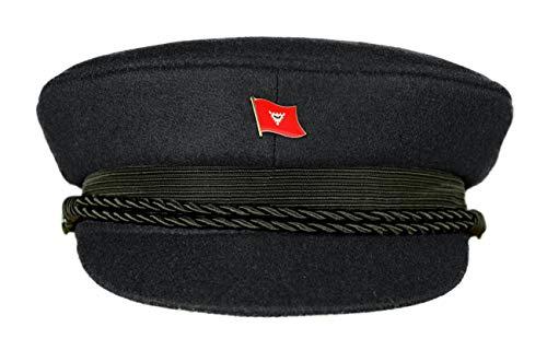 MADSea Elbsegler Premium Tuch mit Flaggenpin Kiel schwarz Pin, Größe:56, Pins:Kiel