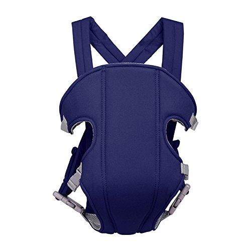 Porte-bébé Ventraux Dorsal Multifonctionnel avec Sangle Confortable Porteur de Bébé en Tissu Respirant pour 3-30 Mois Max.15kg - Bleu Fonce