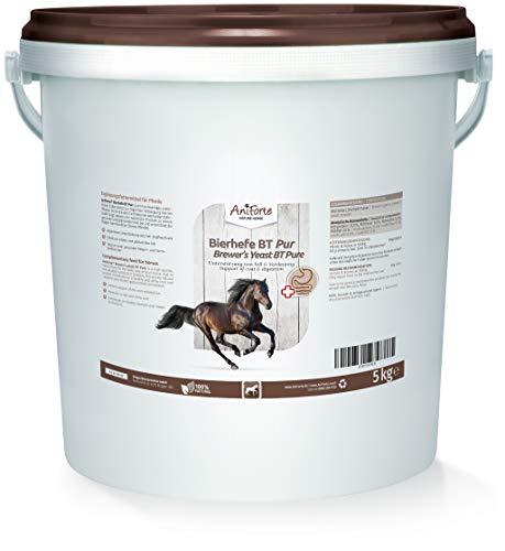 AniForte BT Pur Bierhefe für Pferde 5kg - Naturprodukt für Haut & Fell, Glänzendes & kräftiges Haarkleid - Unterstützt Magen-Darm-Trakt & Darmflora, Appetitanregung, mit Biertreber gemixt