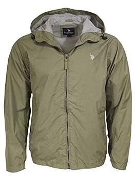 U.S Polo Assn Men s Windbreaker Jacket Army Green Heather L
