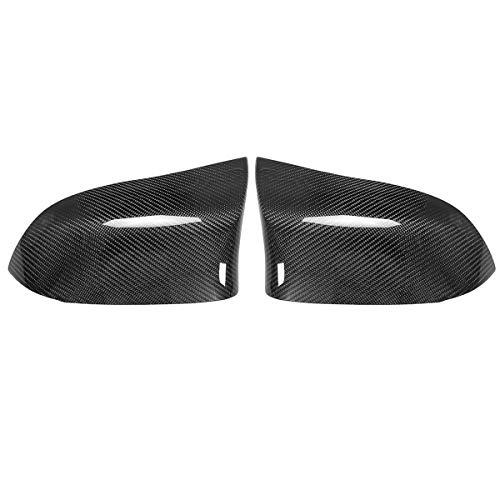 ZST-DM Cubierta de Espejo, para F15 X5 F16 X6 X4 F26 x3 E83 2014-2017 Un par Real de Fibra de Carbono Atrás Page Caps Shell Reemplazo
