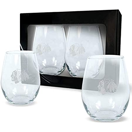 Rae Dunn His /& Hers Wine Glass And Magnet Set