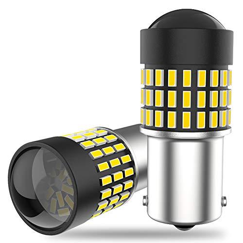 Z&LEI 2 Unids Super Bright T20 7443 W21 / 5W 1156 BA15S P21W Coche LED Bombillas Inversas para Luces Dimensión Lámparas Blanco 6000K DC12V 78SMD,1156
