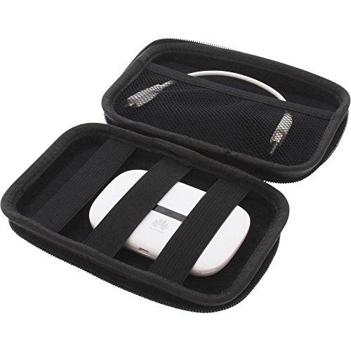foto-kontor Tasche für Huawei E5330 Mobile WiFi Schutz Hülle Mobiler Router Hülle Aufbewahrung schwarz