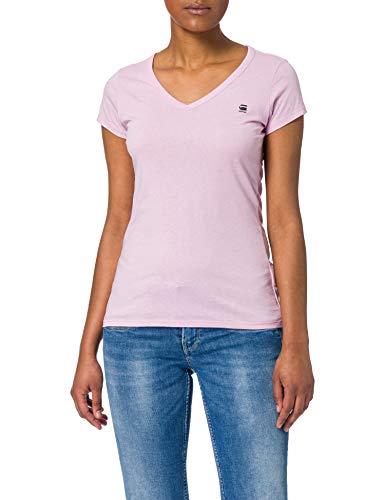 G-STAR RAW Eyben Slim Camiseta, Lavender Pink 2757-c340-Lavender, L para Mujer