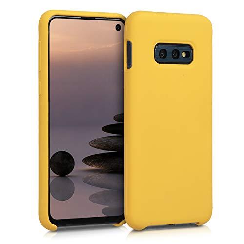 kwmobile Cover compatibile con Samsung Galaxy S10e - Custodia in silicone TPU - Back Case protezione cellulare miele