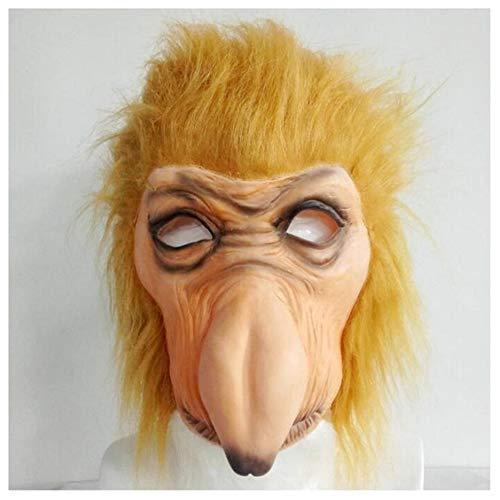 YC° Nasenaffe Maske, Halloween Latex Haube Tier Banane Nase Affenmaske, Geeignet Für Rollenspiele Tanz Orgie Maskerade Kostüm
