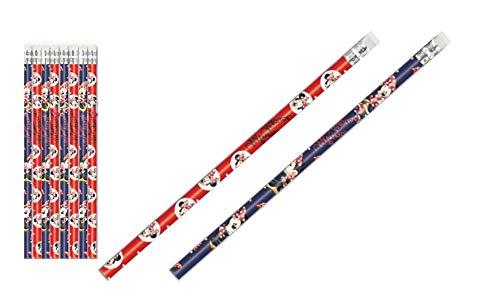 Minnie Mouse: 8 Bleistifte mit Radiergummi - tolle Geschenkidee für Kinder (8 x Minnie Maus)
