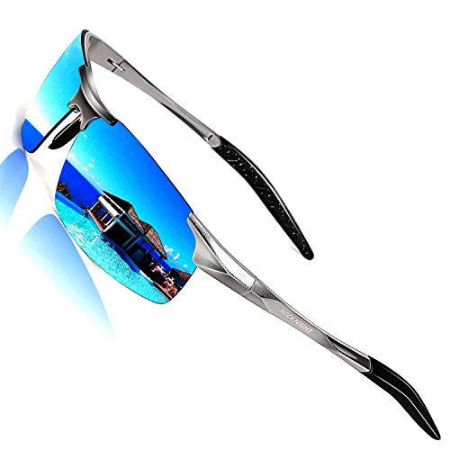 ROCKNIGHT HD Driving Polarized Sunglasses Men UV Protection Mirrored Golf Fishing Outdoor