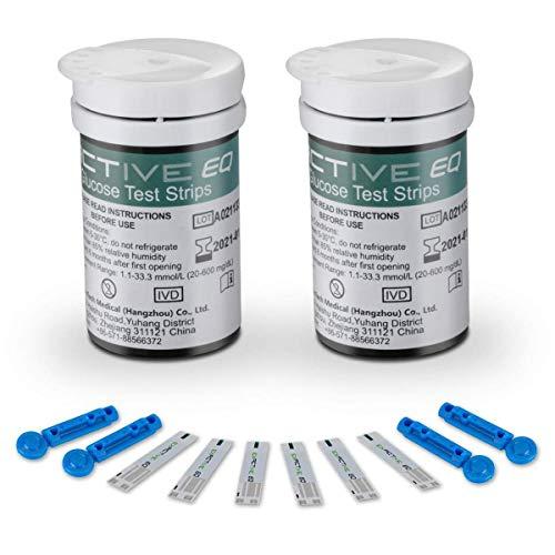 HARPIMER Glucosio nel Sangue Strisce di Prova 50 per Blood Sugar Monitor Kit per Exactive EQ Impulse Solo