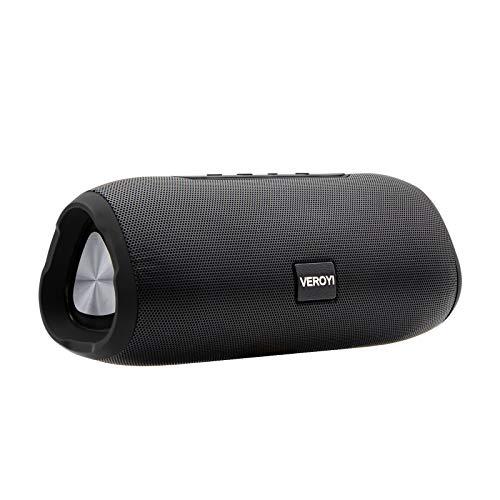 Veroyi Altavoces Bluetooth, Altavoz inalámbrico portátil con Bluetooth 5, Emparejamiento estéreo inalámbrico, Graves mejorados para teléfonos Inteligentes, tabletas y Otros Dispositivos Bluetooth