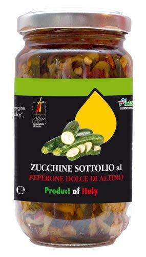 Zucchine sottolio al Peperone dolce di Altino - 185 gr