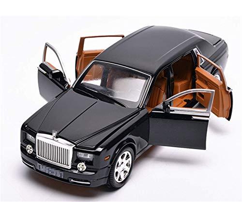 Outdoorking Model Model 1:24 Diecast Alloy Car Modelo de automóvil para Rollos para Royce para Swéplail Simulación de metal Simulación Luz de sonido Pull Back Toy Collection para niños Regalo (Color: