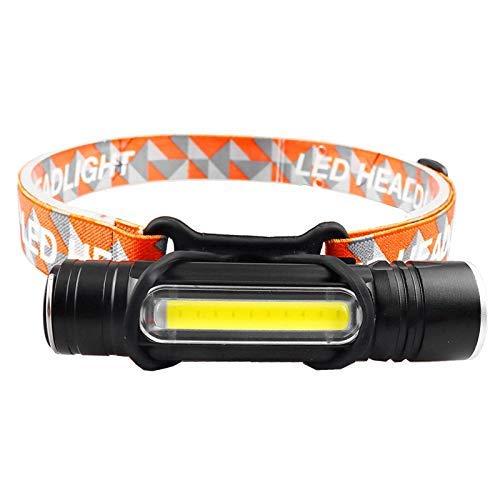 Linterna frontal T6 Linterna frontal para acampar Linterna frontal Led Linterna con zoom Linterna de policía Linterna de pesca al aire libre + Batería incorporada 18650