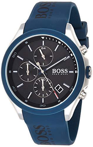 Hugo Boss Herren Chronograph Quartz Uhr mit Silikon Armband 1513717