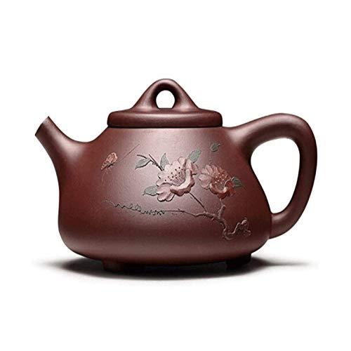 XIAOCHEN Hervidor de Cocina de Gas de Acampar Tetera, ZUN Pot Yixing Zisha Pot Stone Scoop Pot Famosa Tetera Set Kung Fu Juego de té Tetera Pintura Regalo Juego de té en Caja
