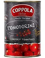Coppola Pomodorini, Tomates Cherry - Sin sal añadida 400g (Caja de 12)