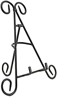 """Adorox 12"""" Black Iron Display Stand Easel Holds Cook Books, Plates, Pictures & More! (Black (1 Stand))"""