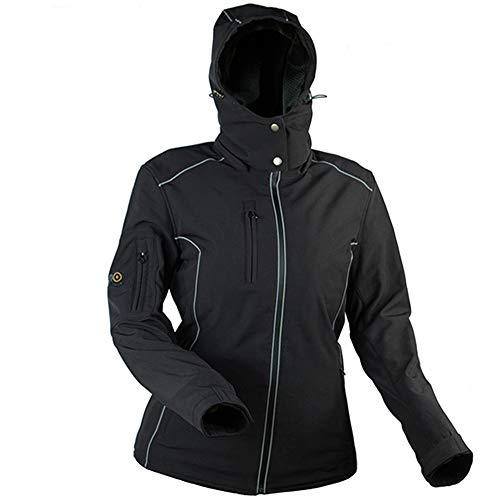 Windsoroyal - Motorjas Dover voor dames, winterjas, zwart, L