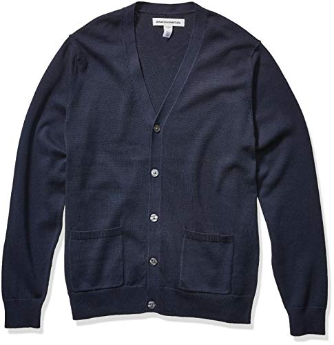 Navy Blue Cardigan Sweaters for Men