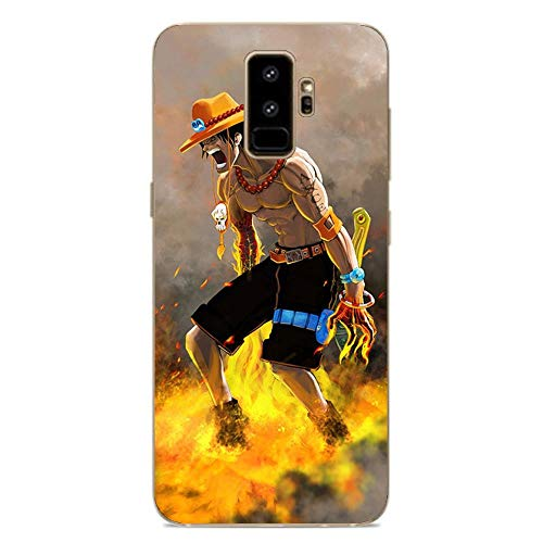 Be-better Case for Samsung Galaxy S9 Plus, One-Piece Anime-Luffy 8 Ultra Clear Coque Thin Soft TPU Rubber Anti-Slip Phone Cover
