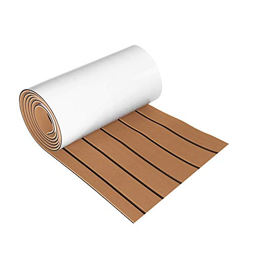 Save %20 Now! CoCocina 270cmx30cmx6mm EVA Foam Flooring Decking Sheet Marine Boat Faux Teak - Grey