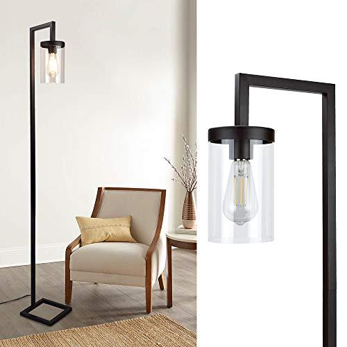 Lámpara de pie con pantalla de cristal